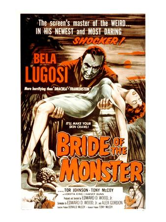Bride of the Monster, Bela Lugosi, 1955