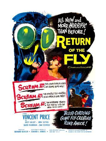 Return of the Fly, Danielle Demetz, Vincent Price, Danielle Demetz, 1959