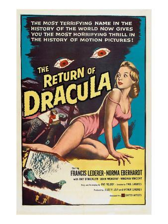 The Return of Dracula, Francis Lederer, Norma Eberhardt, 1958