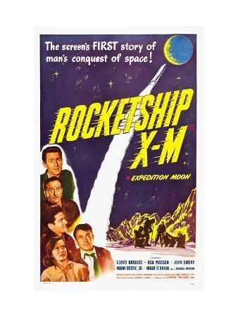 Rocketship X-M, Top: Lloyd Bridges, Bottom Left: Osa Massen, 1950