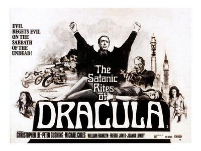 The Satanic Rites of Dracula, Christopher Lee, Peter Cushing, 1973