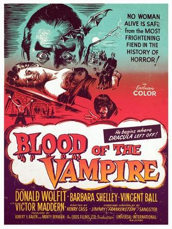 Blood of the Vampire, Donald Wolfit, Barbara Shelley, Victor Maddern, 1958