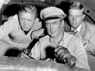 The Flight of the Phoenix, L-R: Richard Attenborough, James Stewart, Hardy Kruger, 1965