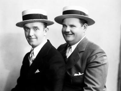 Stan Laurel and Oliver Hardy [Laurel & Hardy] in Early Hal Roach Studio Portrait Shot, c. Mid 1920s