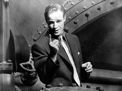 Guys and Dolls, Marlon Brando, 1955, Pointing