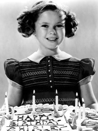 Just Around the Corner, Shirley Temple with Her Birthday Cake, on Set, 1938