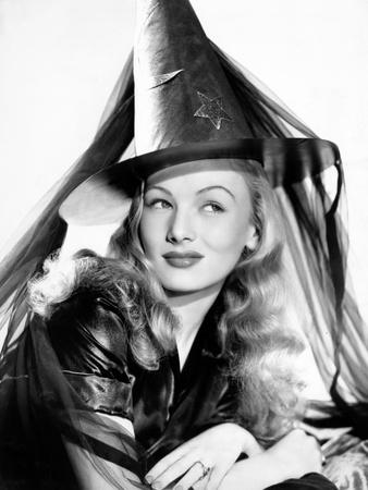 Veronica Lake in Publicity Pose for I Married a Witch, 1942