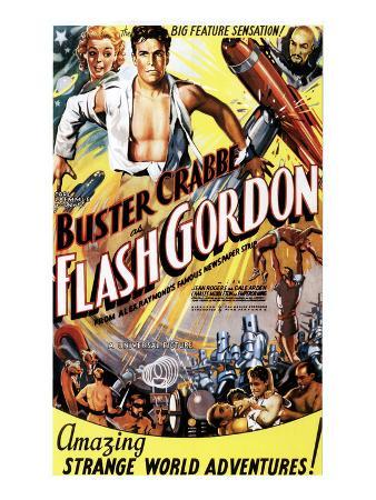 Flash Gordon, Jean Rogers, Larry 'Buster' Crabbe, Charles Middleton, 1936