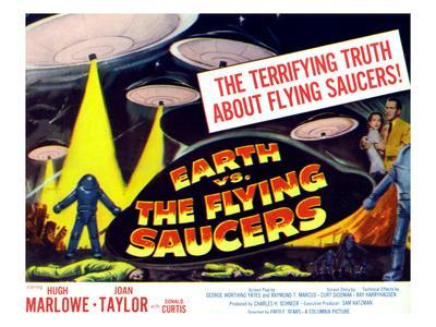 Earth vs. the Flying Saucers, 1956, Joan Taylor, Hugh Marlowe, 1956