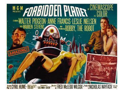 Forbidden Planet, Walter Pidgeon, Anne Francis, Robby the Robot, Leslie Nielsen, 1956