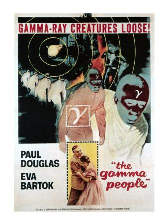 Gamma People, Bottom From Left: Paul Douglas, Eva Bartok, 1956