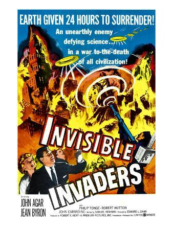 Invisible Invaders, Bottom From Left: Jean Byron, Robert Hutton, Philip Tonge, 1959