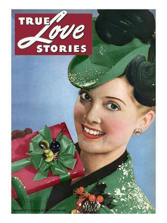 True Love Stories Vintage Magazine - December 1945 - Christmas