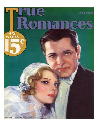 True Romances Vintage Magazine - December 1932 - Painted By George Wren