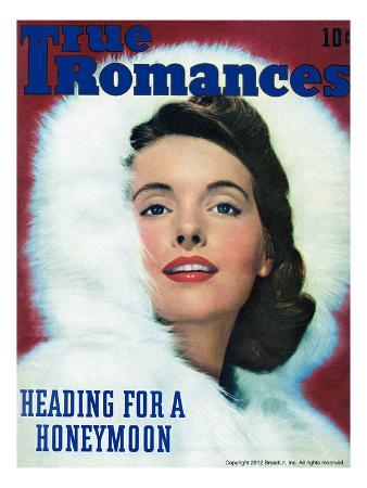 True Romances Vintage Magazine - January 1944 - Natural color photography