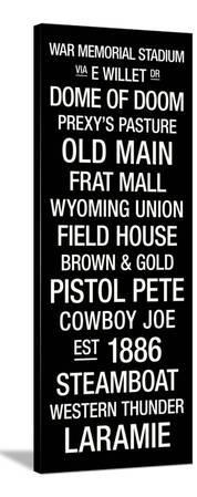 Wyoming: College Town Wall Art