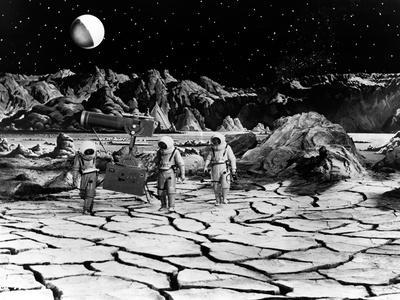 Destination Moon, Astronauts Explore The Lunar Terrain, 1950