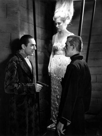 The Black Cat, Bela Lugosi, Boris Karloff, 1934, Suspended Animation