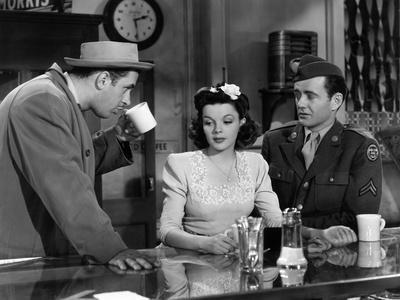 The Clock, Keenan Wynn, Judy Garland, Robert Walker, 1945
