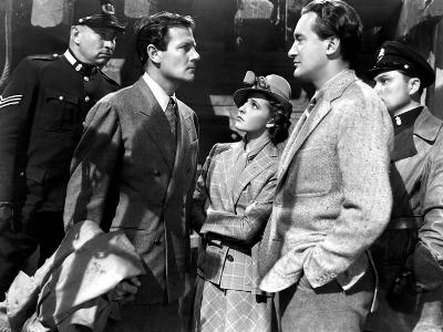 Foreign Correspondent, Joel McCrea, Laraine Day, George Sanders, 1940