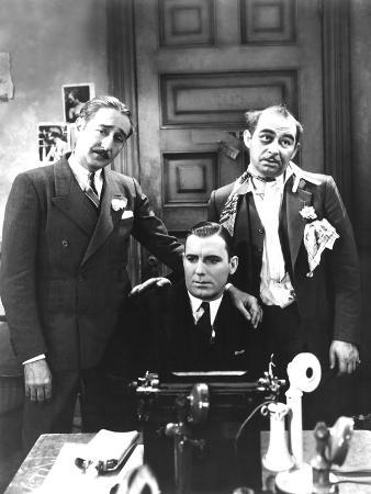 The Front Page, Adolphe Menjou, Pat O'Brien, Maurice Black, 1931