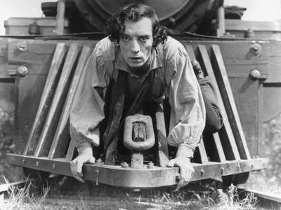 The General, Buster Keaton, 1927, Train