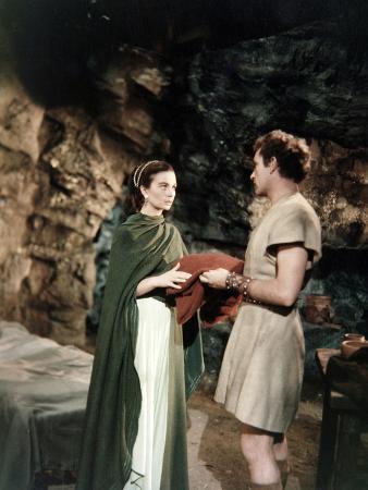 The Robe, Jean Simmons, Richard Burton, 1953