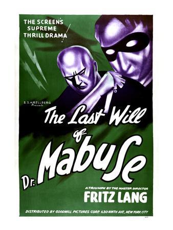The Testament Of Dr. Mabuse, (aka Das Testament Des Dr. Mabuse), 1933