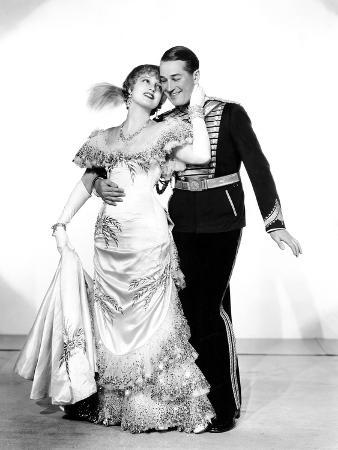 The Merry Widow, Jeanette MacDonald, Maurice Chevalier, 1934