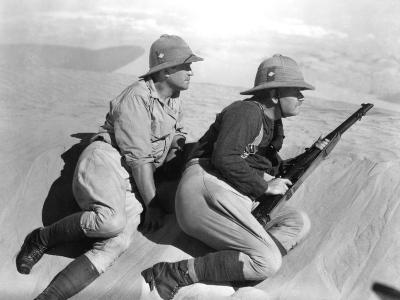 The Lost Patrol, Victor McLaglen, Alan Hale Sr., 1934