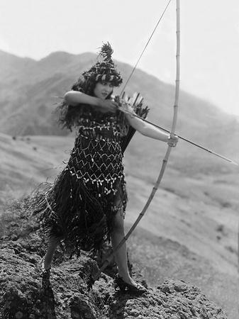 Male And Female, Gloria Swanson, 1919, With Bow And Arrow