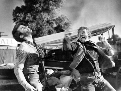 Red River, Montgomery Clift, John Wayne, 1948