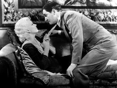 Platinum Blonde, Jean Harlow, Robert Williams, 1931, Seduction On The Couch