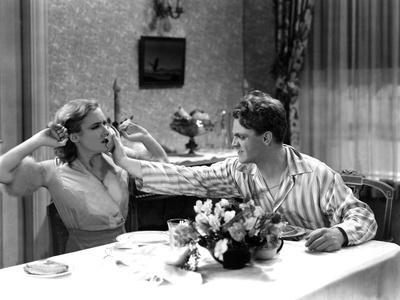 The Public Enemy, Mae Clarke, James Cagney, 1931, Domestic Fight With Grapefruit