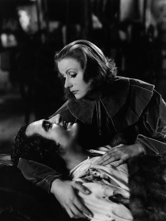 Queen Christina, John Gilbert, Greta Garbo, 1933