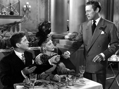 Unfaithfully Yours, Rudy Vallee, Barbara Lawrence, Rex Harrison, 1948