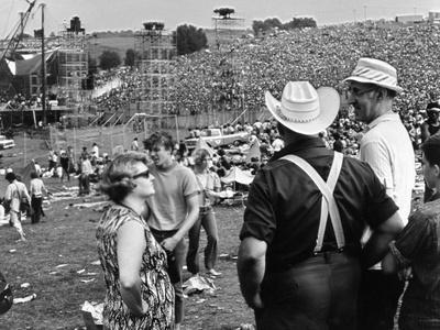 Woodstock, Farmer Max Yasgur Looks On As His Grounds Are Used For Woodstock Festival, 1970