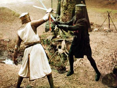 Monty Python And The Holy Grail, Graham Chapman As King Arthur, John Cleese, 1975