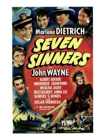 Seven Sinners, 1940