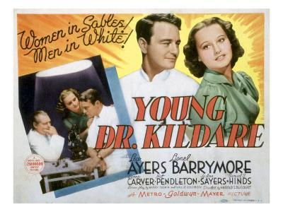 Young Dr. Kildare, Lionel Barrymore, Lew Ayres, Lynne Carver, 1938