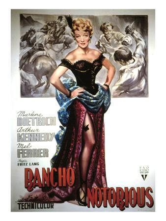 Rancho Notorious, Marlene Dietrich, 1952