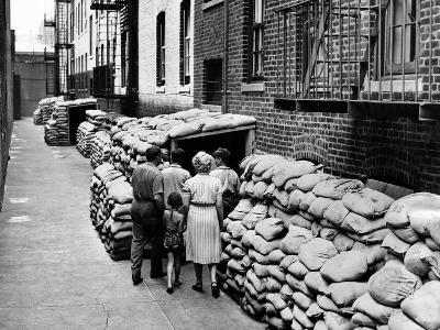 Exterior View of the First Large Air Raid Shelter on New York City's Lower East Side
