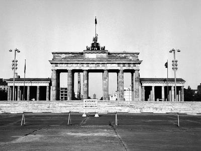 The Brandenburg Gate in East Berlin Behind the Berlin Wall