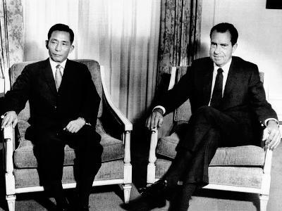South Korean President Park Chung Hee and President Richard Nixon