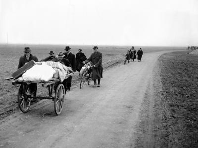 German Refugees Fleeing Cologne as the US First Army Moves Toward the City