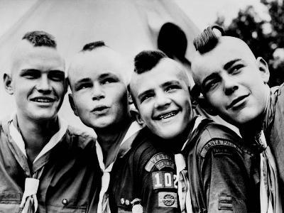 California Boy Scouts with Mohawk Haircuts