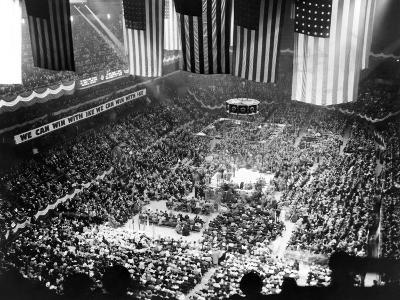 Mass Rally of 25,000 to Draft Gen Dwight Eisenhower as Republican Candidate for Pres, Feb 2, 1952