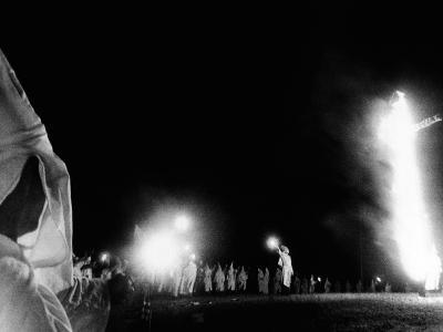 Ku Klux Klan Cross Burning at Stone Mountain, Georgia