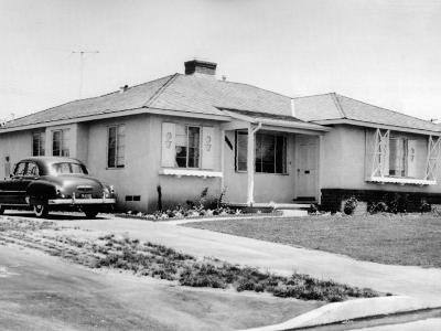 Sen Richard Nixon Home in Whittier, California Home, 1952