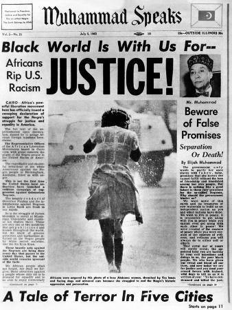 Black Muslim Newspaper, 'Muhammad Speaks', Emphasizes African Americans Abuse, Jul 5, 1963